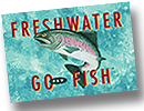Freshwater Go Fly Fish Playing Cards